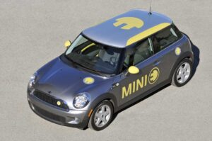 Mini's first battery car, the Mini-E, will be test-marketed in L.A., NYC and New Jersey and, if reaction is positive, parent BMW could commit to high-volume production early in the coming decade.