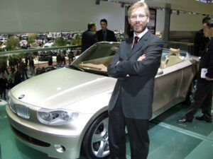 Chris Bangle with the dramatic -- and controversial -- 2002 BMW 7-Series