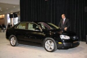 Motor Week Host John Davis with Best-of-the-Year VW Jetta TDI