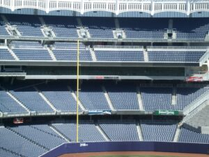 The Yankees have been having trouble filling ultra-expnsive seats.