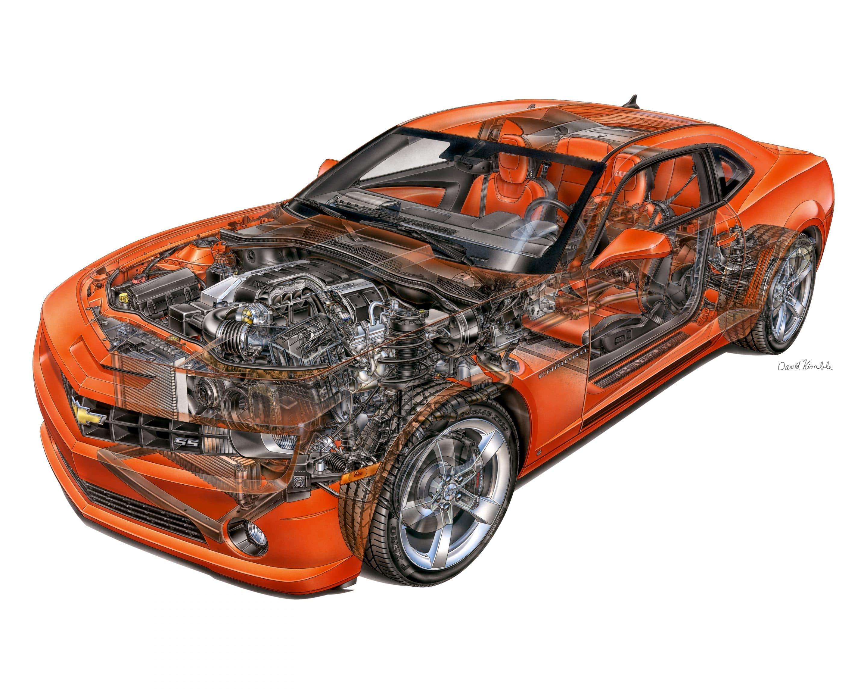 2010 Chevrolet Camaro Ss David Kimble Illustration 2010