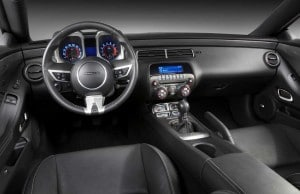 Interior of the high-performance Camaro SS.