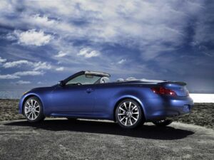 Infiniti traded off trunk and rear seat space to deliver a convertible that maintains the looks of the sleek G37 Coupe.