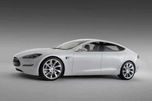 Silicon Valley start-up Tesla Motors promises to deliver a 7-seat family sedan with huge storage, 300-mile range and 45-minute charges by 2011.