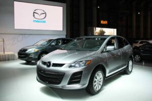 Mazda brought two new models to the NY Auto Show, including the 2010 CX-7, which gets a new, 28 mpg I-4 engine.