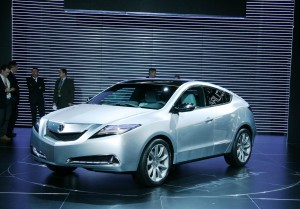 The 2010 Acura ZDX, shown here at its debut, during this year's New York Auto Show, will be critical to building momentum for the Honda luxury brand.