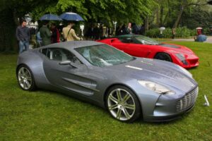 Despite the deluge, on Sunday, the crowds made the prototype Aston Martin One-77 one of their favorites.