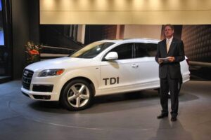 Audi of America CEO Johan de Nysschen, announcing the $50,900 price for the new Q7 TDI.