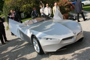 With its lycra skin, the BMW Gina concept vehicle can actually wink its headlights.
