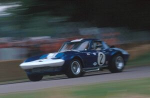 The original 1963 Grand Sport on a track wher it belongs.