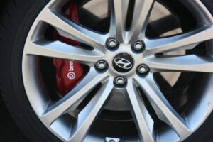 Horsepower is only one measure of performance.  The track-ready edition of the 2010 Hyundai Genesis Coupe includes standard Brembo brakes, front and back