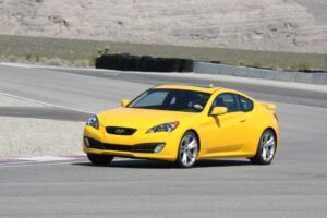 The 2010 Hyundai Genesis Coupe's rear-drive powertrain provides an unexpectedly exhilarating ride, on-track or off.
