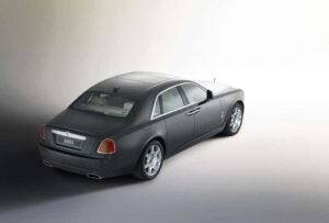 "Rolls-Royce will bring back the legendary ""Ghost"" nameplate for its ""small"" luxury sedan, which goes into production for 2010. The concept version, the 200EX is shown here."