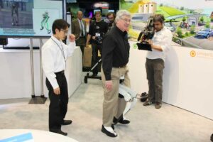 This ingenious machine helps people with weakened leg muscles by supporting up to 20 pounds. It is currently being tested in Japan.