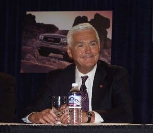 """Maximum"" Bob Lutz in better days.  The question of legacy is more than just good products developed under Lutz, but whether GM has really rediscovered how to build competitive vehicles after Lutz leaves."