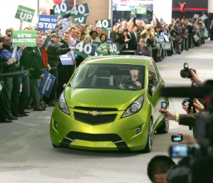 Chevrolet announced production plans for a new vehicle - the Chevrolet Spark - a fuel-efficient mini-car based on the Beat concept that will arrive in dealer showrooms in 2011.