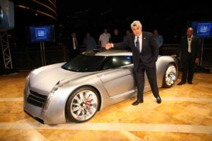 """I wanted to build a modern car that didn't run on fossil fuel,"" explained Jay Leno, at the 2006 unveiling of the turbojet-powered EcoJet he designed with help from General Motors, ""but (also) didn't drive like a Prius.""  He later admitted it would need more bio-diesel to run the sports car ""than an Amish farm could produce in a year."""