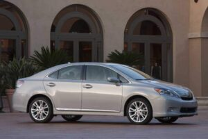 The 2010 Lexus HS250h is the world's first dedicated luxury hybrid.