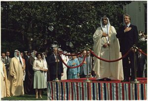 Saudi King Fahd and President Jimmy Carter at the White House.