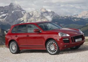 The ties between Porsche and Volkswagen date back to the latter's founding, the Beetle developed by Ferdinand Porsche. More recently, they've worked together on the VW Touareg and Porsche's Cayenne, the GTS version shown here.