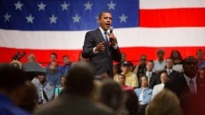 President Obama at a Townhall meeting