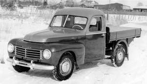A pickup truck version of the 445, made by Klippan coachbuilding, circa 1949.