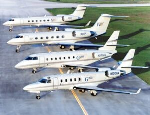 Gulfstream Fleet the G4 and G5 are the bigger ones
