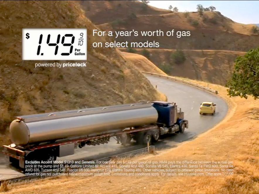 Hyundai Proffers $1.49 Gas Guarantee