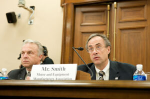 President of E&E Manufacturing, Wes Smith, testifying before the House Small Business Committee at a hearing examining the impact of the auto crisis on small suppliers.