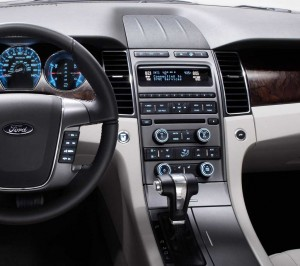 The 2010 Ford Taurus features the 3rd generation of the automaker's SYNC infotainment system.