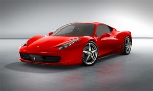 "The 2010 Ferrari 458 Italia will hit 60 in less than 3.4 seconds.  It's also the first ""mainstream"" Ferrari to break the 200 mph barrier."