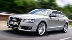 Audi is counting on its expanding line-up, including products like the upcoming A5 Sportback, to help it gain global market share and keep its balance sheet in the black.