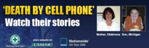"""Death by Cell Phone"" is the title of a new billboard advertisement the National Safety Council."