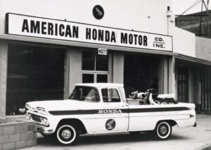 In 1959 American Honda established itself in the U.S. selling motorcycles out of a small storefront in Los Angeles, California