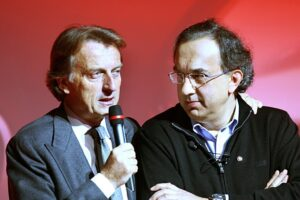 Luca Cordero di Montezemol, Chairman Fiat SpA left, and Sergio Marchionne, CEO