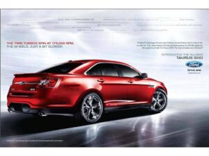Ford is putting on a heavy push to promote the 2010 Taurus launch.
