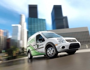 Ford hopes to launch its first commercial battery-electric vehicle, the Transit Connect EV, in 2010, with a battery-powered Focus to follow a year later.