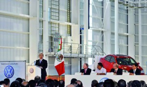 Mexican President Felipe Calderón at Puebla