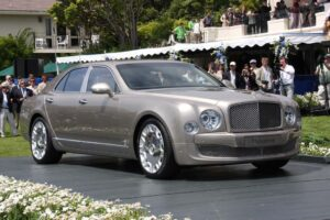 The 2011 Bentley Mulsanne makes its formal debut at the 59th annual Pebble Beach Concours d'Elegance.