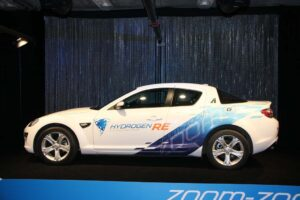 It looks like a conventional Mazda RX-8, but it's powered by clean hydrogen.