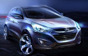 This is a rendering of the 2011 Hyundai Tucson that the Korean carmaker plans to unveil at next month's Frankfurt Motor Show.