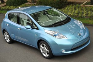 Nissan plans to put the Leaf battery car into limited production in a year, and begin retail sales in 2012.