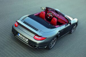 The all-new 2010 Porsche 911 Turbo will debut in Frankfurt, next month, but here's a sneak peek of the Cabriolet version. Both Coupe and drop-top will make 0 - 60 in just 3.2 seconds.
