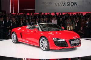 first look 2010 audi r8 5 2 spider. Black Bedroom Furniture Sets. Home Design Ideas