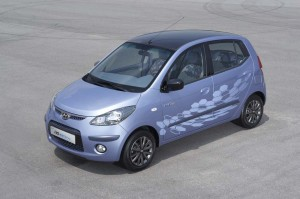 The 2010 Hyundai i10 Electric will be launched in the Korean home market next year, but initially targeted at fleet users.