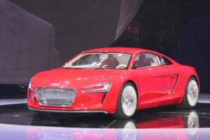 Can a battery vehicle perform like a gasoline-powered supercar? That's what Audi has set out to prove with the 2012 e-tron.