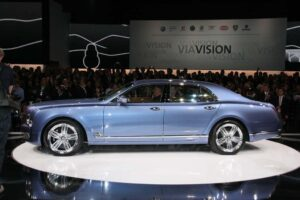If numbers impress, consider the 2010 Bentley Mulsanne will boast 505 hp, 752 lb-ft of torque - and 2200 watts of audio power.