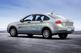 The Ford Focus EV will be one of more than 40 battery vehicles planned for launch by 2012.