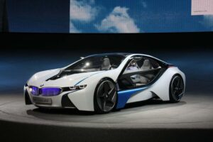 The fuel economy of a microcar, the performance of an M-Series model; the 2010 BMW Vision makes its North American debut at the L.A. Motor Show.