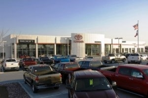 About one-third of Toyota's 1200 dealers have upgraded facilities.